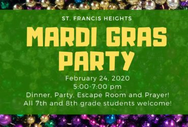 St Francis Heights Mardi Gras Party